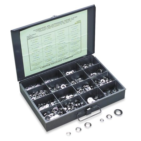 Gardner-Westcott A-160 Chromed Machine/AN Washers Assortment Kit with Tray ()