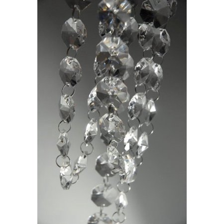 6Ft of Clear  Chandelier Bead Lamp