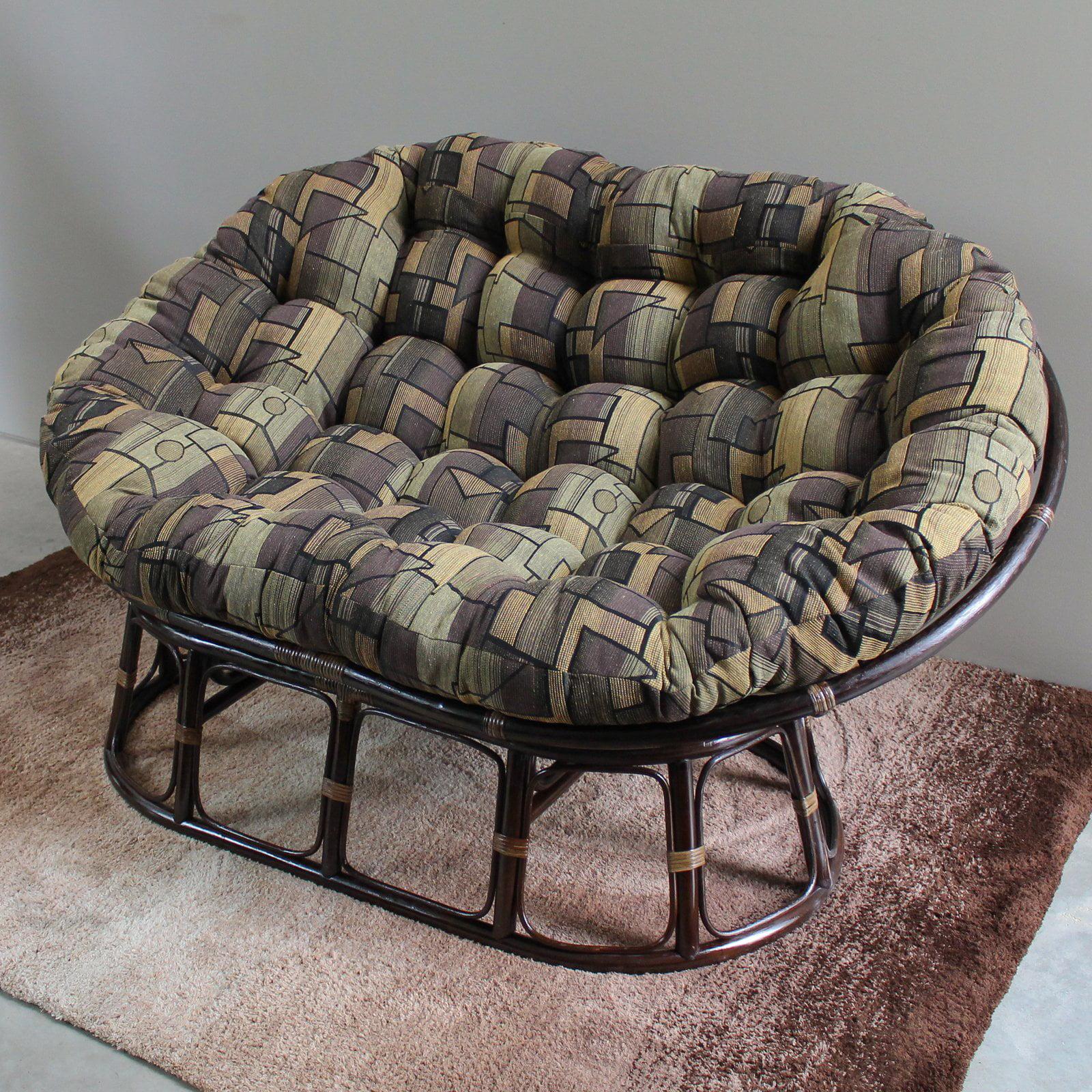 International Caravan Double Papasan Chair with Tapestry Cushion