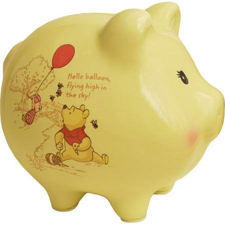 Disney Winnie The Pooh Piggy Bank Yellow Walmart Com