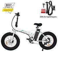 """Folding 20"""" Fat Tire Electric Bike 500W Hill Bicycle Removable Battery Pedal Assist Power"""