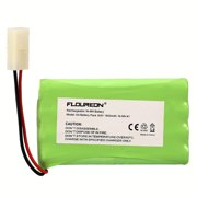 FLOUREON RC Battery 8 Cell Ni-MH AA(4*2) With Tamiya Connector for RC Cars Boat 9.6V 1800mAh Fruit Green