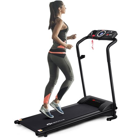 Goplus 1HP Electric Treadmill Folding Motorized Power Running Machine Fitness