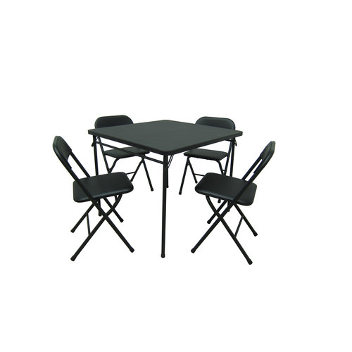 Mainstays Padded Folding Table and Chair Set Black  sc 1 st  Walmart & Mainstays Padded Folding Table and Chair Set Black - Walmart.com