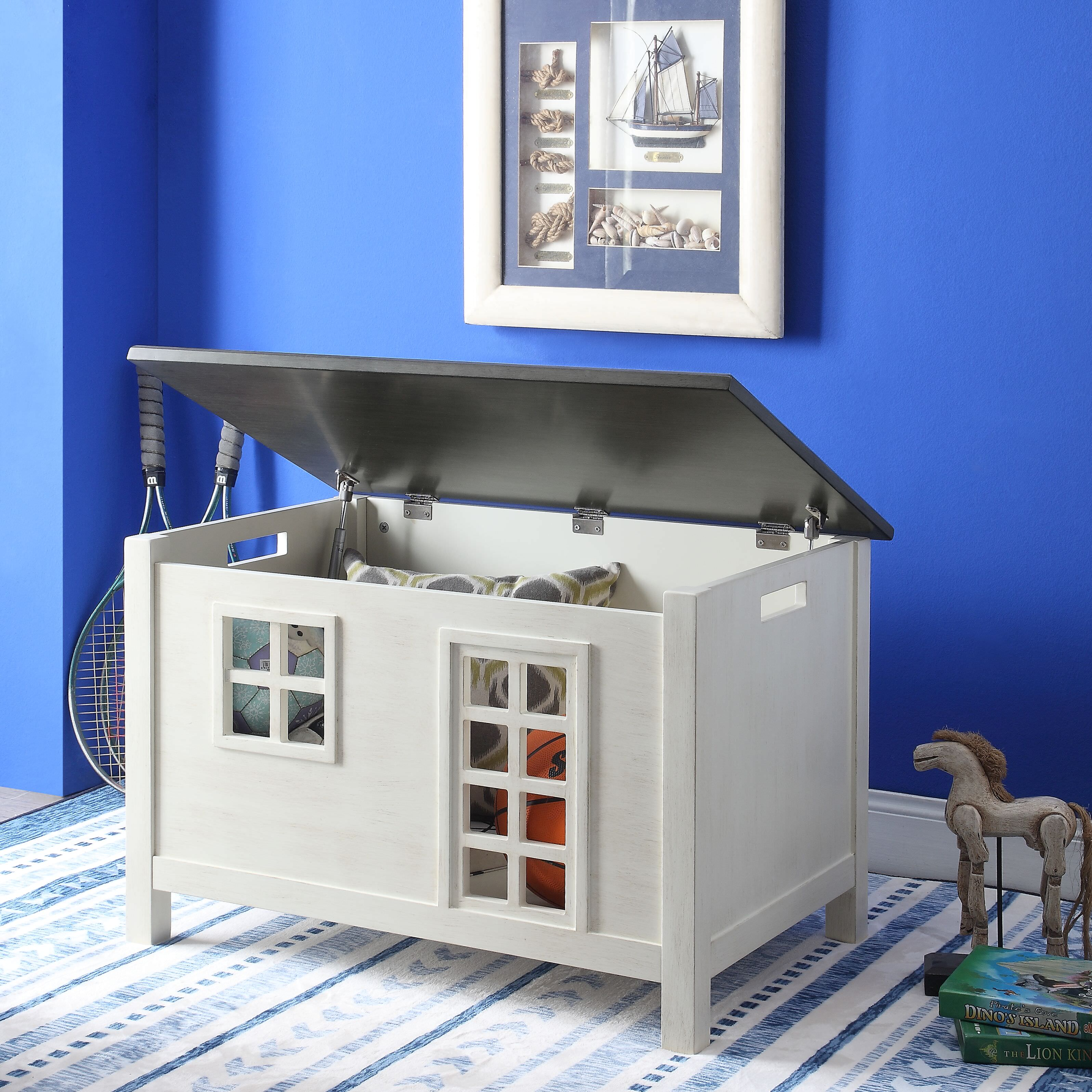 Acme Doll Cottage Youth Chest in Weathered White and Washed Gray