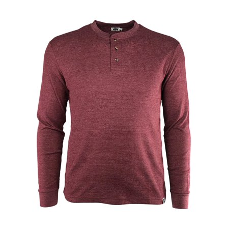 Four Button Long Sleeve Henley - Buffalo Outdoors 3 Button Long Sleeve Henley