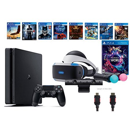 playstation vr launch bundle 9 items vr launch bundle ps4 slim uncharted 4 7vr game disc until. Black Bedroom Furniture Sets. Home Design Ideas