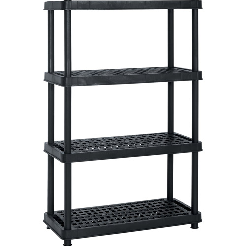 "Enviro Elements 4-Tier Shelf Unit, 18"" x 36"", Black"