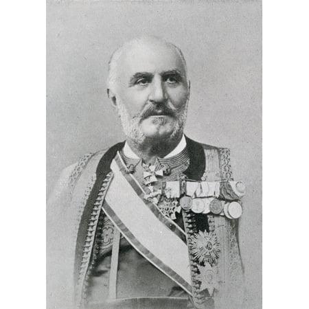 King Nicholas I Of Montenegro 1841 To 1921 Nikola I Mirkov Petrovic Njegos From The Book The Year 1912 Illustrated Published London 1913 Canvas Art - Ken Welsh Design Pics (24 x 34)