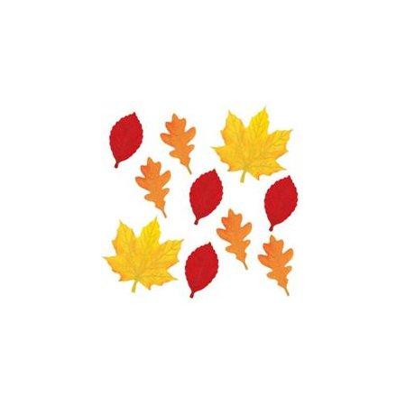 Autumn Leaves Mini Glitter Cutouts 10c - Leaf Cutouts