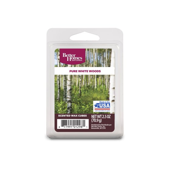 Better Homes & Gardens Wax Melts, Pure White Woods - Walmart.com