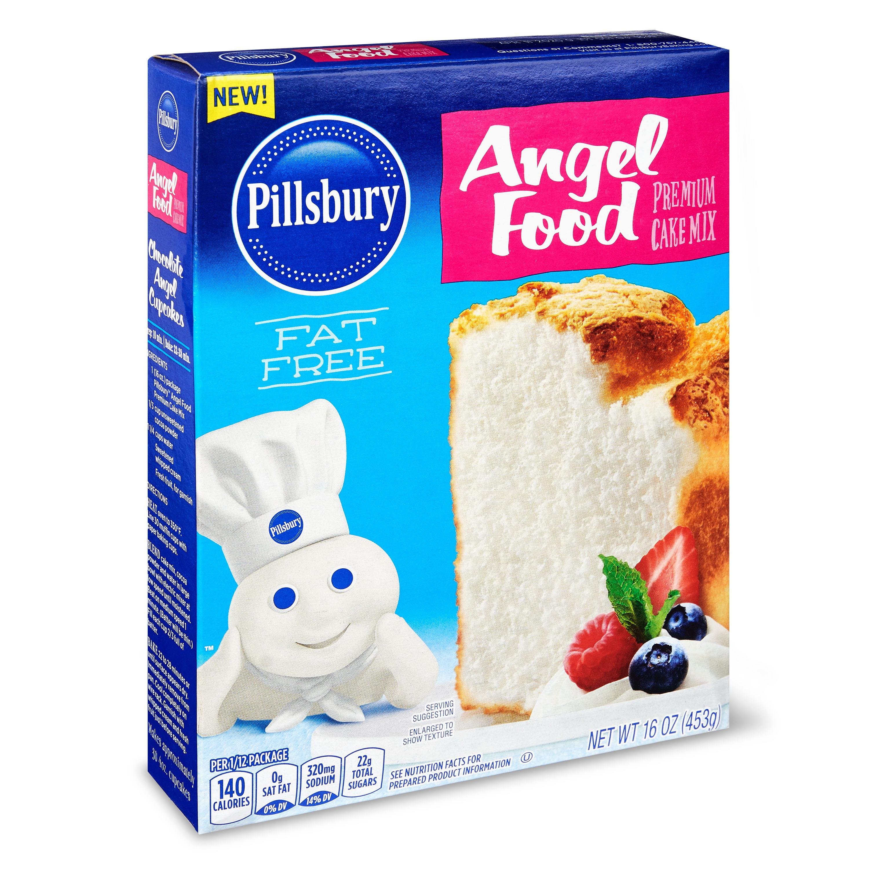 Pillsbury Angel Food Premium Cake Mix, 16 oz - Walmart.com ...