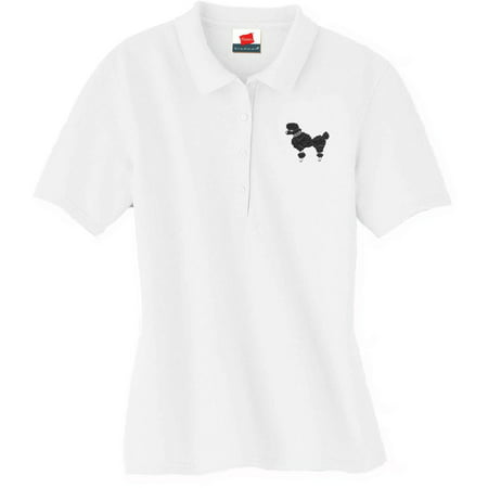 Adult - 50's Polo w/Black Poodle - Large - 50s Poodle Girl