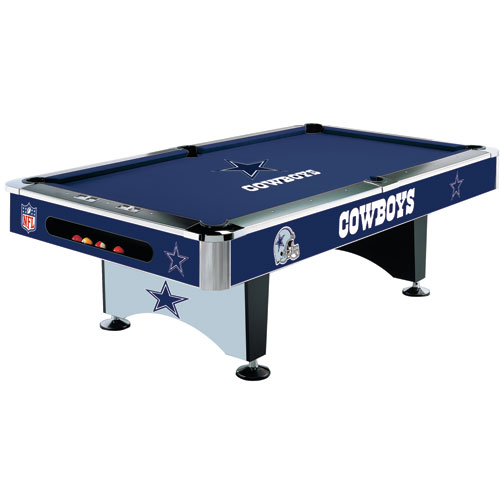 NFL Dallas Cowboys Pool Table - 8 Foot with Logo Cloth ...