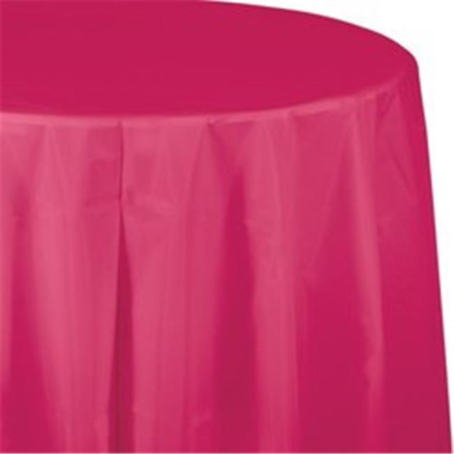 CPC B82PCNB 82 in. Round Disposable Plastic Table Cover, Navy Blue - Case of 12