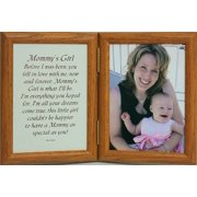 5X7 Hinged Mommy's Girl Poem Oak Picture Photo Frame ~ Gift Mother's Day