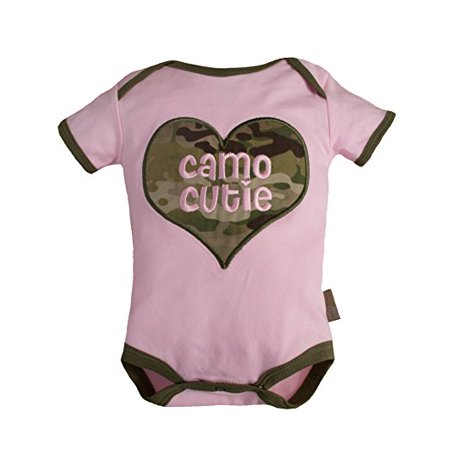 """Baby Girl Camo Clothes Mesmerizing Tiny Trooper Baby Girls """"Camo Cutie"""" Bodysuit Pink And Multicam Camo"""