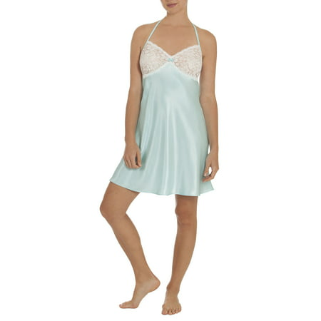 Secret Treasures Womens and Womens Plus Satin and Lace Sleep Chemise Gown