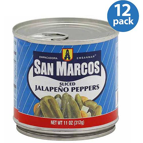 Empacadora San Marcos Sliced Jalapeno Peppers, 11 oz, (Pack of 12)