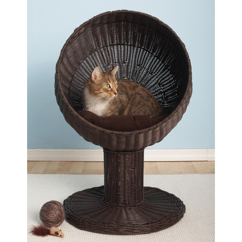 The Refined Feline Kitty Ball Hooded Cat Bed