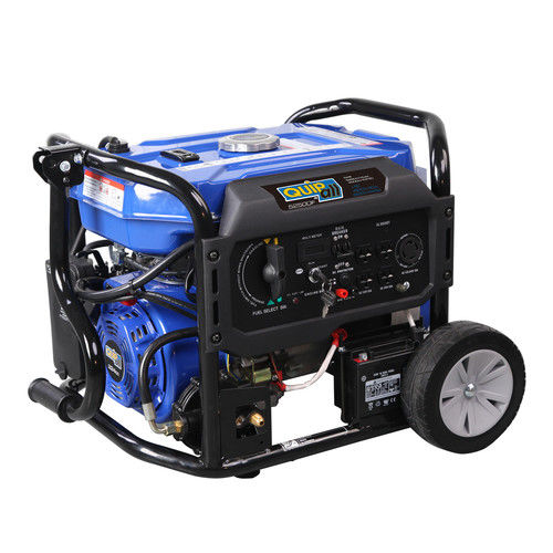 Quipall 5250DF 5,250 Watt Dual Fuel Gas Portable Generator w/ Electric Start