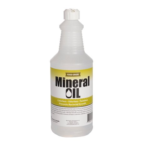 Cutting Oil (Premium 100% Pure Food Grade Mineral Oil USP, 1 Quart (32 ounces), NSF Approved, Butcher Block and Cutting Board)