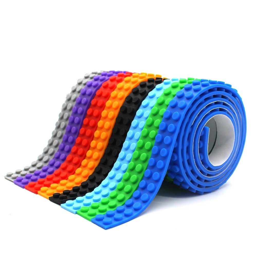 LattoGe Block Tape 2 Rolls for Kids Lego Figures Table To...