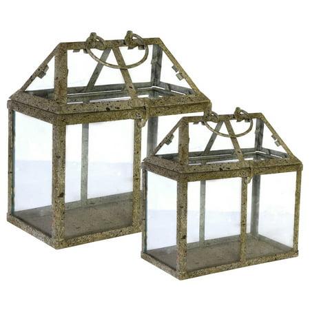 A&B Home 2 Piece Glass Terrarium Planter Set ()