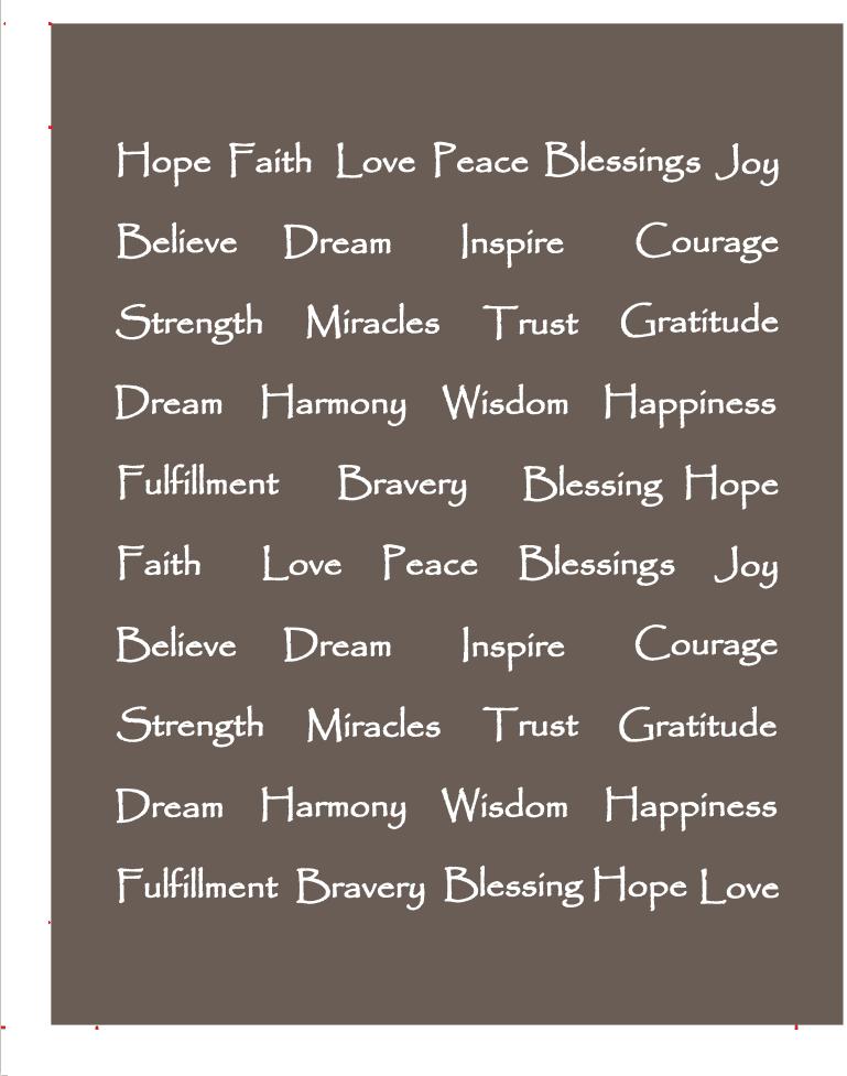 Gray Inspirational Words Peace Hope Love Throw Blanket Large Plush Light Grey