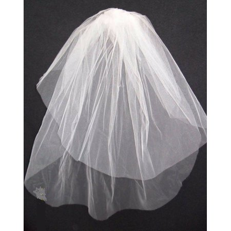 Girls 1st Communion Dress Wedding White Veil 2 Layers Tulle Veil with Comb 23