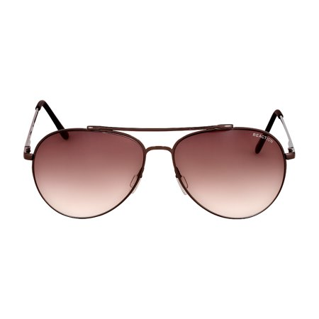 Kenneth Cole Reaction Metal Frame Gradient Brown Lens Men's Sunglasses KC13085908F Crystal Brown Gradient Sunglasses
