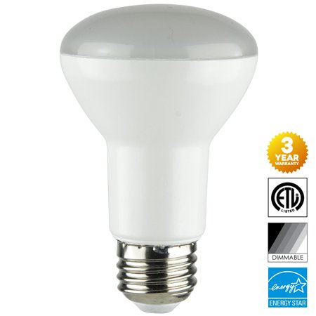Cool Sun Air Cooled Reflector - Sunlite 8-Watt Dimmable LED R20 Reflector Bulb, 50W Incandescent Equivalent, Medium (E26) Base, 4000K Cool White