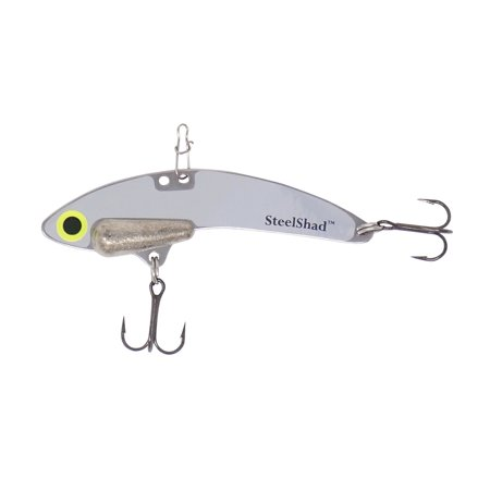 SteelShad Elite - 3/8 oz - Lead-Free - Silver - Long Casting Lipless Crankbait, Perfect for Bass, Walleye, Pike, Trout, Salmon and Striper - Fresh Water Fishing ()
