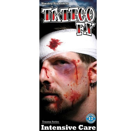 Tinsley Transfer FX Halloween Costume Makeup Intensive Care Temporary Tattoo