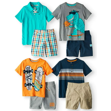 Kid-Pack Mix & Match Gift Box, 8-Piece Outfit (Little Boys & Big - Male Anime Outfits