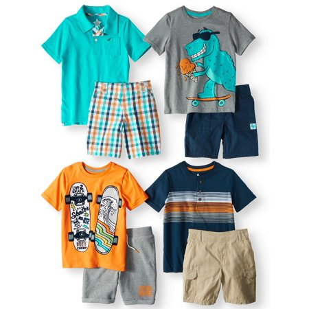 Kid-Pack Mix & Match Gift Box, 8-Piece Outfit (Little Boys & Big Boys) (Kids Tiger Outfit)