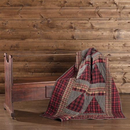 - Chili Pepper Red Rustic Christmas Decor Andes Rod Pocket Cotton Hand Quilted Patchwork Chambray Throw