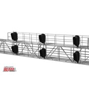 BLMA Models 4025 HO Modern Triple Track Signal Bridge w/ 6 Heads LED 3-Aspect