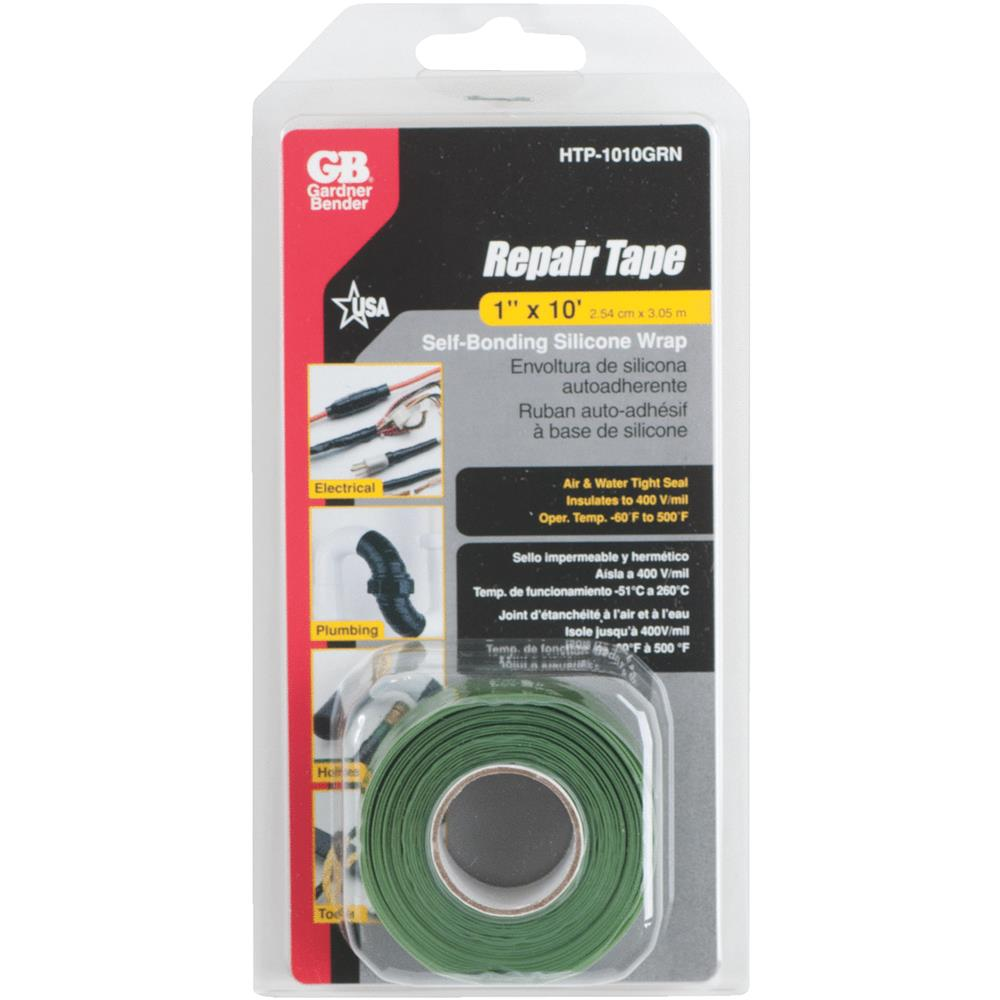 Ecm Industries HTP-1010GRN Self-Sealing Silicone Repair Tape, Green, 1-In. x 10-Ft. - Quantity 1