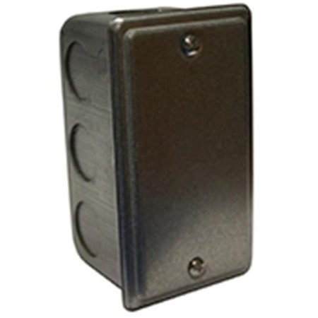 Single Gang Metal Switch Box with Cover - image 1 of 1