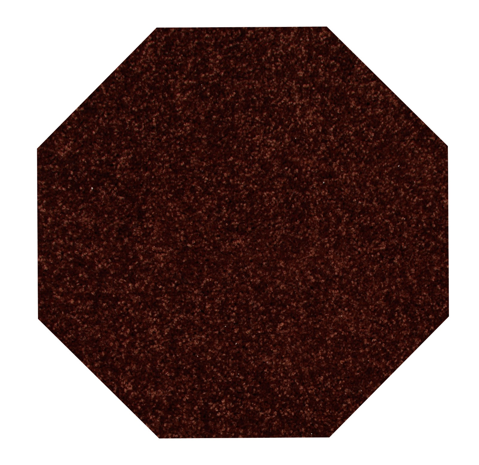 Home Queen Solid Color Chocolate 6' Octagon - Area Rug