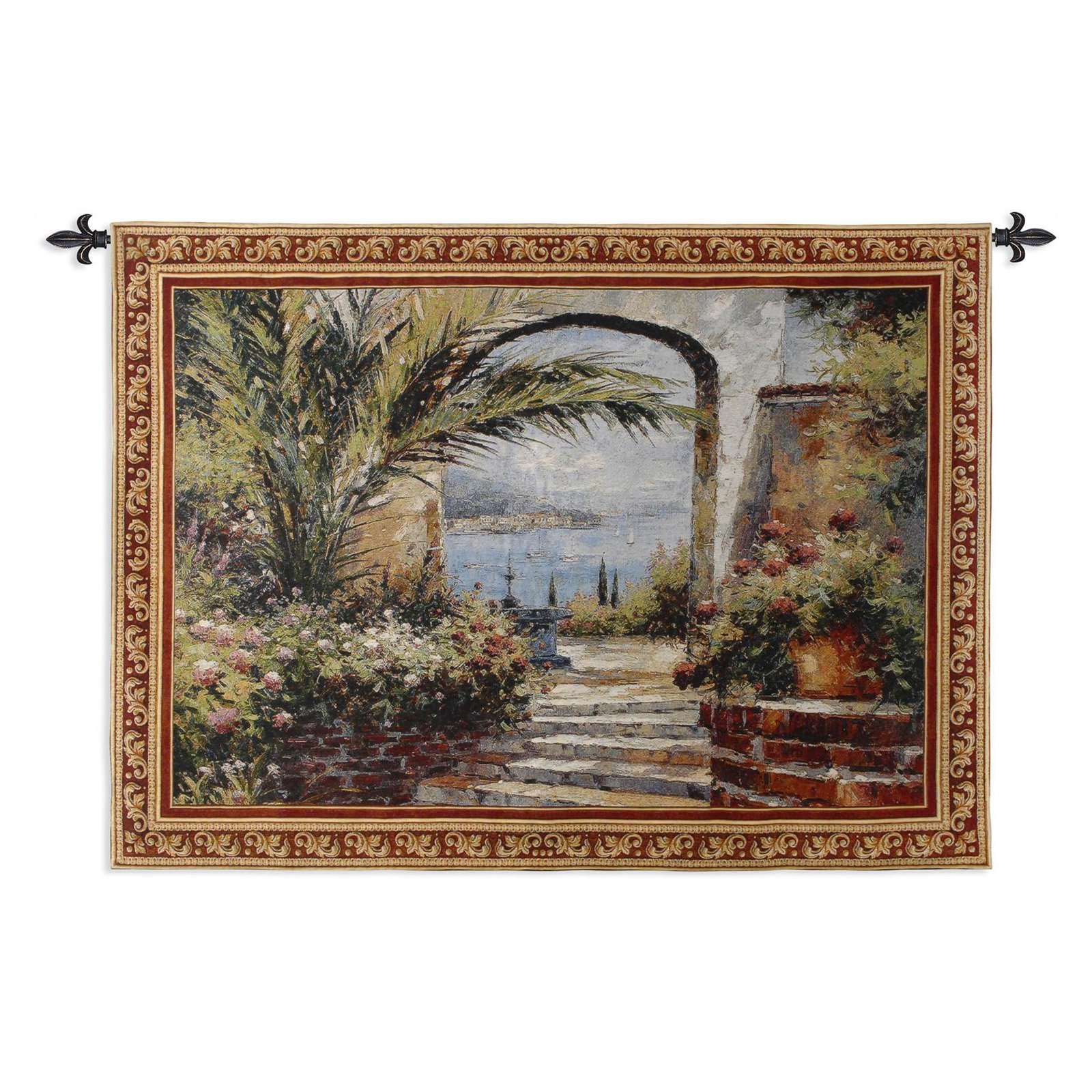 FineArtTapestries 1913-WH Rose Arch Wall Tapestry by Supplier Generic