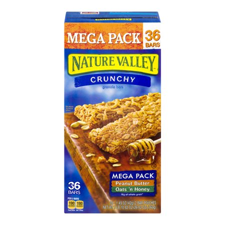 (Nature Valley Granola Bars Peanut Butter & Oats 'n Honey 36 Bars)