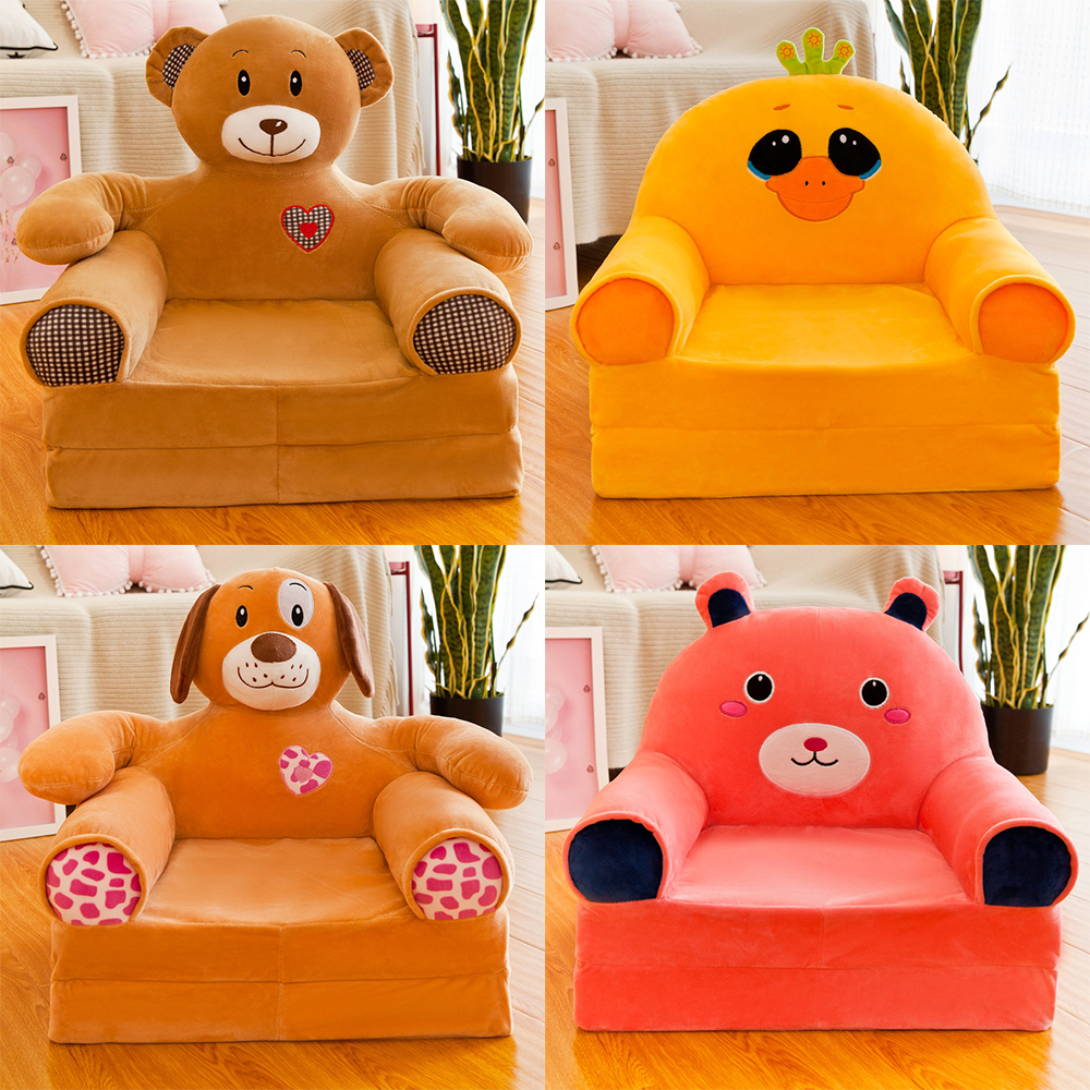 Childrens Foldbale Lazy Sofa Bed Kids Comfy Soft Floor Chair Toddlers  Armchair Seat Bedroom Lounger