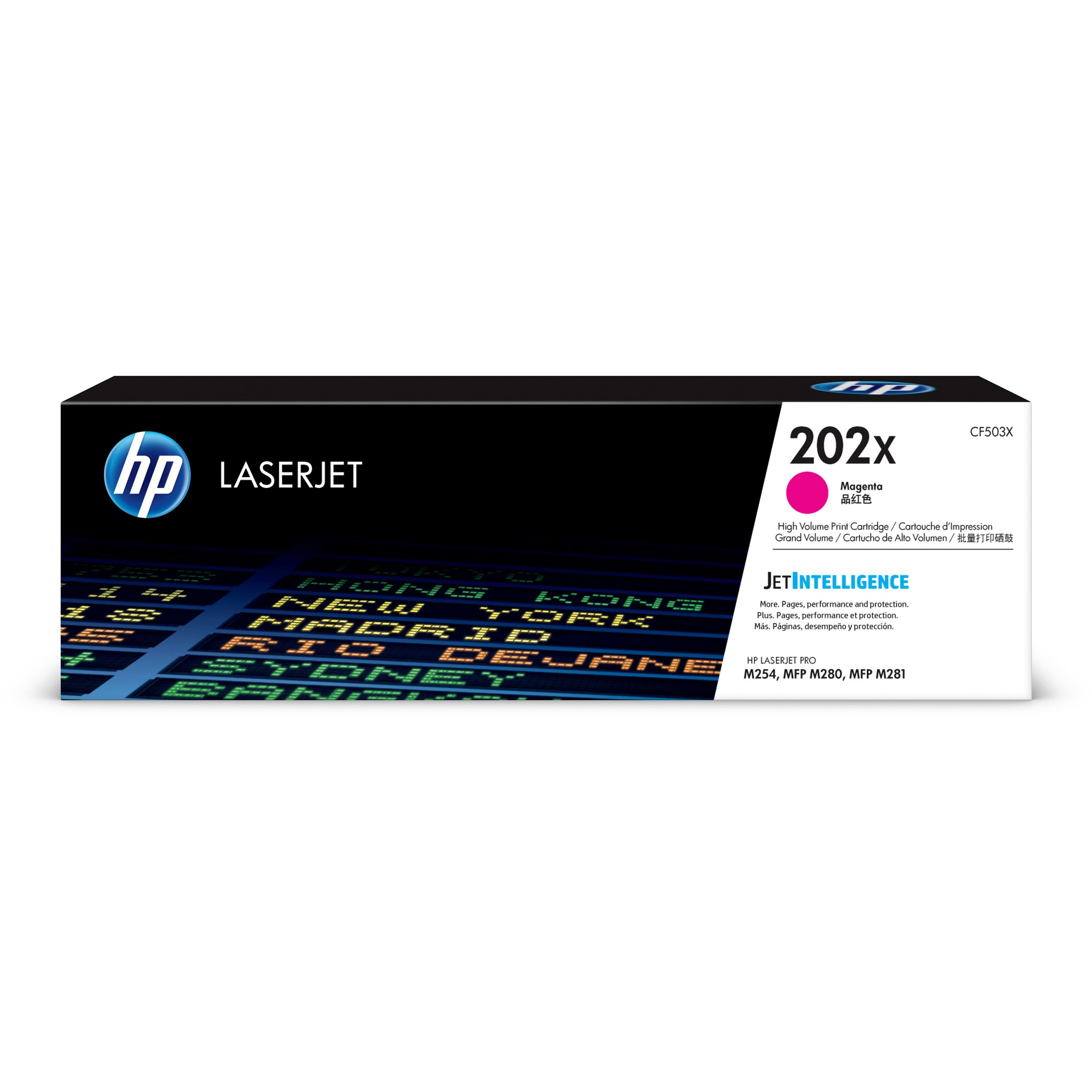 HP, HEWCF503X, 202X High Yield Magenta Original LaserJet Toner Cartridge, 1 Each