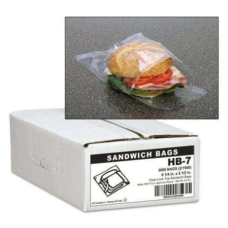Jumbo Bug (Handi-Bag Jumbo Sandwich Bags, Fold Lock, 5 1/2 x 6 1/4, 0.7mil, Clear, 3000/Carton)