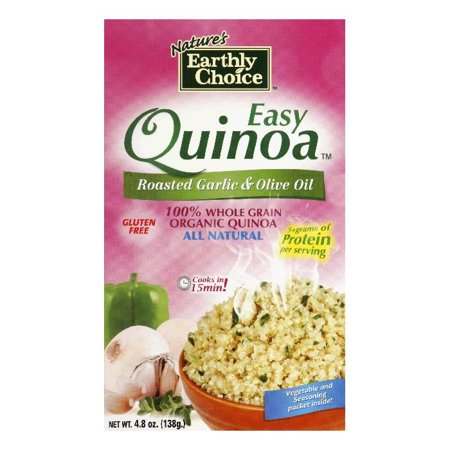 Natures Earthly Choice Quinoa Easy Roasted Garlic Olive Oil  4  8 Oz