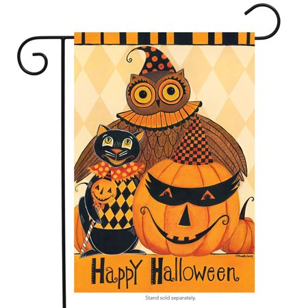 Halloween Party Six Flags (halloween party primitive garden flag owl black cat jack o'lantern 12.5