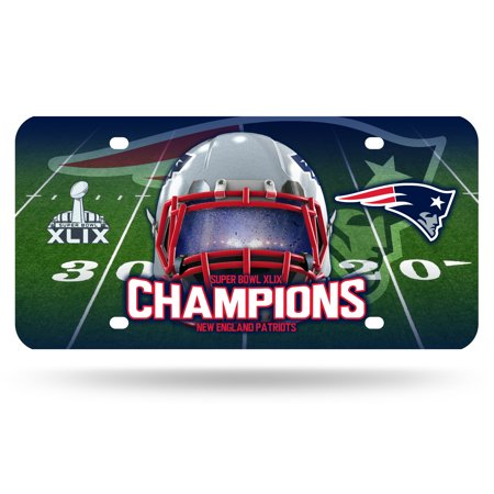 New England Patriots Super Bowl Champs Metal Plate