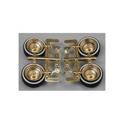 1004 1/24 Rims & Tires Gold Multi-Colored